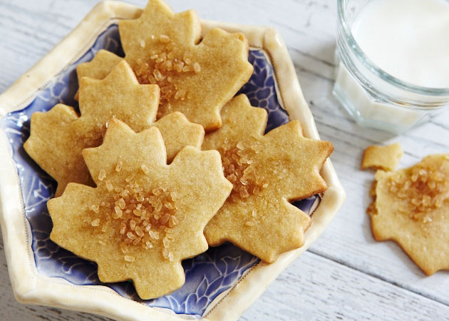 Maple Leaf Cookies - Sweet Potato Chronicles