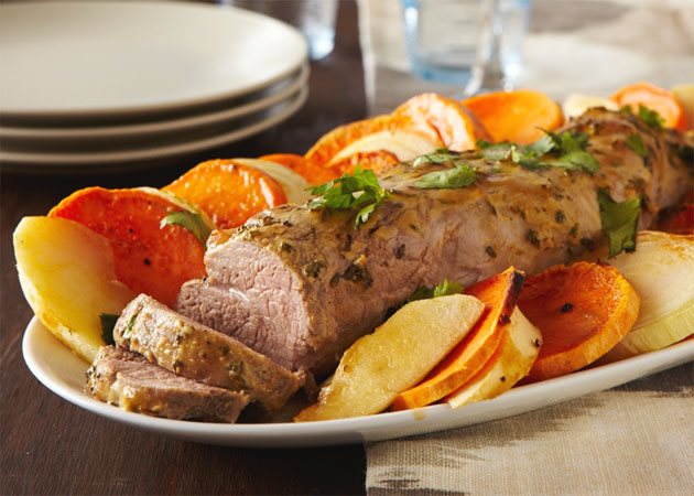 ... Pork Loin with Apples and Sweet Potato - Sweet Potato Chronicles