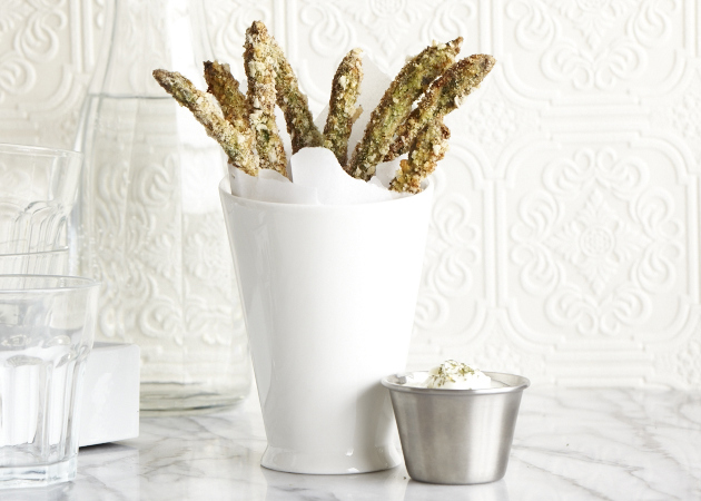 Spring Greens Week: Crunchy Asparagus Fries - Sweet Potato Chronicles